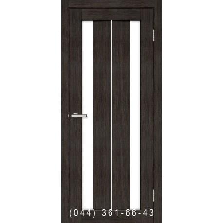 Двери Стелла ПВХ венге со стеклом (сатин матовый)