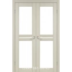 Двері КОРФАД MILANO ML-09 дуб білений зі склом (сатин матовий)
