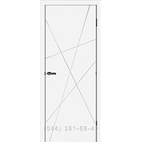 Двері Cortex Геометрія 01 ОМІС білі матові