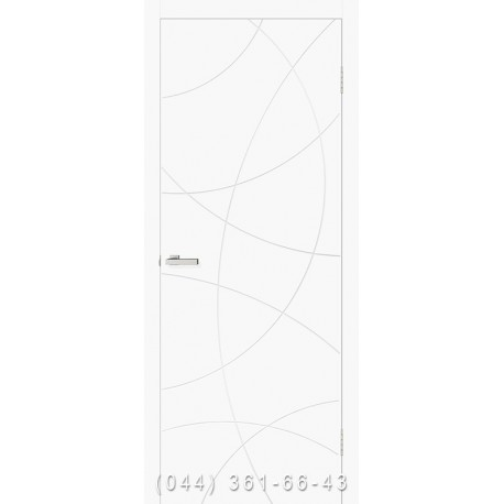 Двері Cortex Геометрія 02 ОМІС білі матові