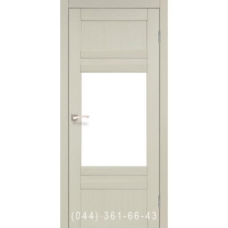 Двери КОРФАД TIVOLI TV-01 дуб беленый со стеклом (сатин матовый)