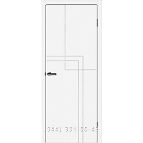 Двери Omis Cortex Геометрия 05 белые матовые