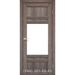 Двері КОРФАД TIVOLI TV-01 дуб грей зі склом (сатин матовий)