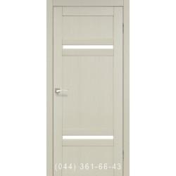Двері КОРФАД TIVOLI TV-03 дуб білений зі склом (сатин матовий)