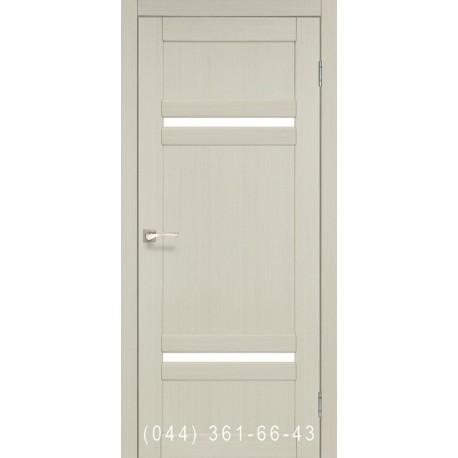 Двери КОРФАД TIVOLI TV-03 дуб беленый со стеклом (сатин матовый)
