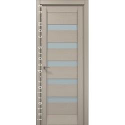 Двері Папа Карло Millenium ML-02с дуб сірий браширований зі склом (сатин матовий)