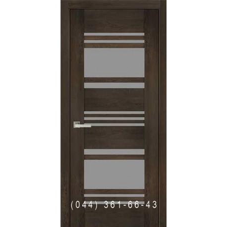Двери Ницца Новый Стиль бук табачный с матовым стеклом