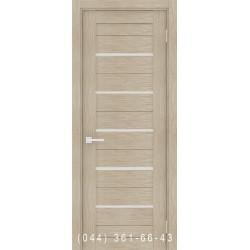 Интерьерные Двери Порта 22 капучино со стеклом (сатин матовый)