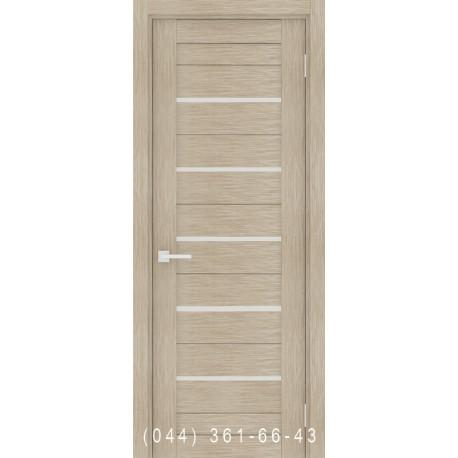 Інтер'єрні Двері Порта 22 капучино зі склом (сатин матовий)