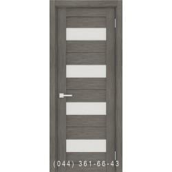 Інтер'єрні Двері Порта 23 сірий зі склом (сатин матовий)