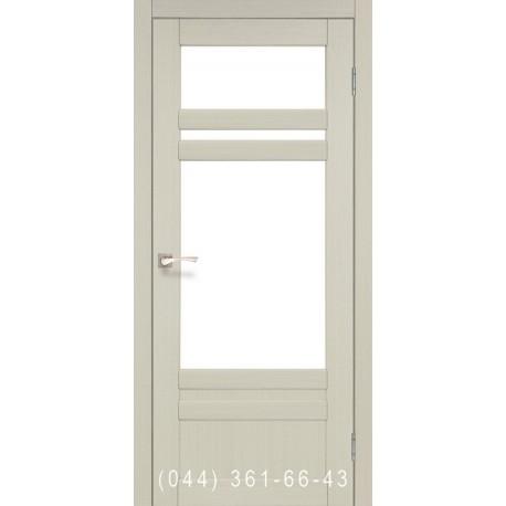 Двери КОРФАД TIVOLI TV-04 дуб беленый со стеклом (сатин матовый)