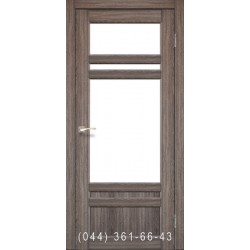 Двері КОРФАД TIVOLI TV-04 дуб грей зі склом (сатин матовий)