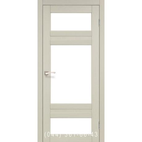 Двери КОРФАД TIVOLI TV-05 дуб беленый со стеклом (сатин матовый)