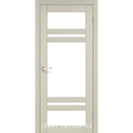 Двери КОРФАД TIVOLI TV-06 дуб беленый со стеклом (сатин матовый)