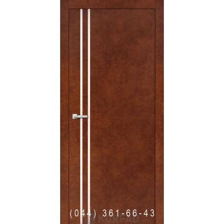 Двери Корфад ALUMINIUM LOFT PLATO ALP-01 сталь кортен