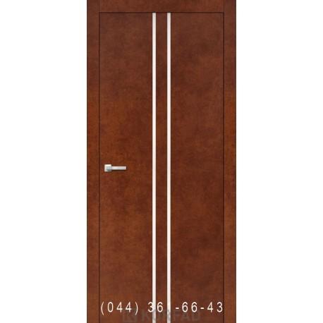 Двери Корфад ALUMINIUM LOFT PLATO ALP-02 сталь кортен