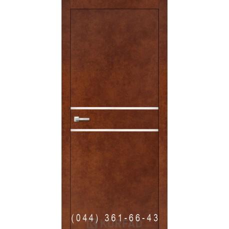 Двери Корфад ALUMINIUM LOFT PLATO ALP-03 сталь кортен