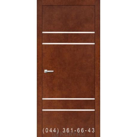 Двері Корфад ALUMINIUM LOFT PLATO ALP-04 сталь кортен