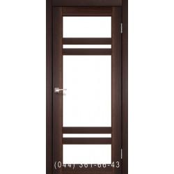 Двері КОРФАД TIVOLI TV-06 горіх зі склом (сатин матовий)