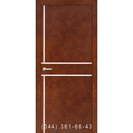 Двери Корфад ALUMINIUM LOFT PLATO ALP-06 сталь кортен