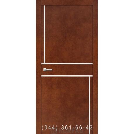 Двери Корфад ALUMINIUM LOFT PLATO ALP-07 сталь кортен