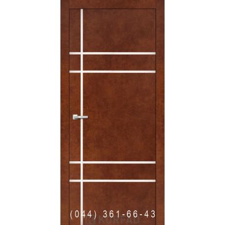 Двери Корфад ALUMINIUM LOFT PLATO ALP-09 сталь кортен