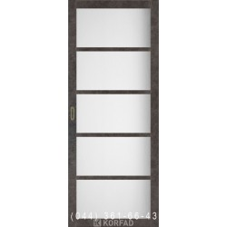Двері Корфад BELLA BL-02 лофт бетон з матовим склом