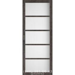 Двери Корфад BELLA BL-02 лофт бетон с матовым стеклом