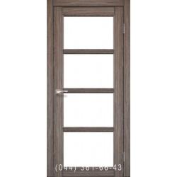 Двери КОРФАД APRICA АР-02 дуб грей со стеклом (сатин матовый)