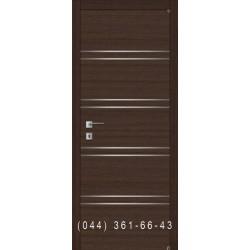 Гладкая дверь с молдингами Fusion F-3.1