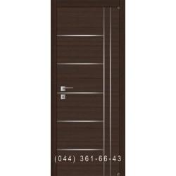 Ровная дверь с комбинированными молдингами F-3.2