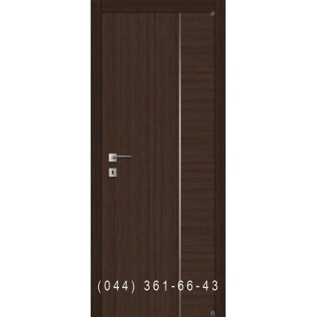Дверь межкомнатная шпонированная с молдингом Fusion F-4.3