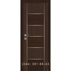 Двери шпон комбинированный с молдингом Fusion F-6