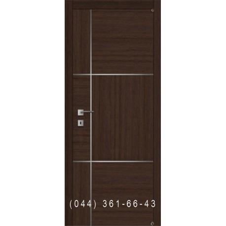 Ровные двери с комбинированным шпоном и молдингами Fusion F-9