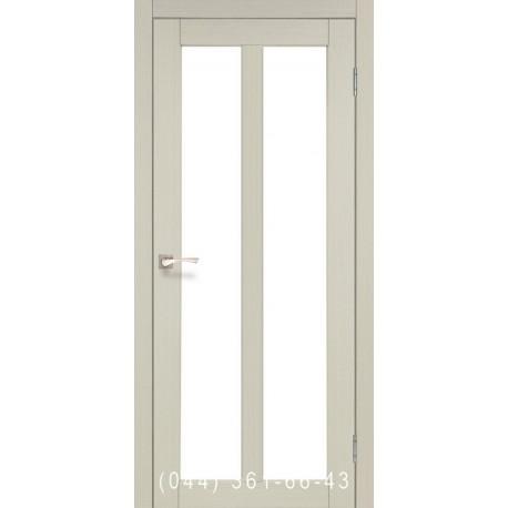Двери КОРФАД TORINO TR-02 дуб беленый со стеклом (сатин матовый)