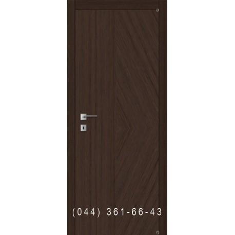 Двері рівні шпон діагональ комбіновані Fusion F-41