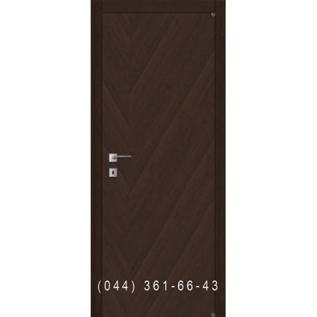 Двери гладкие щитовые шпон диагональ Fusion F-44