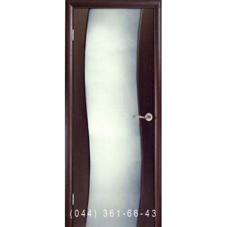 Двері Пандора венге з матовим склом
