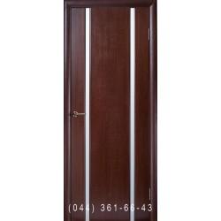 Двері Глазго 2 венге скло матове