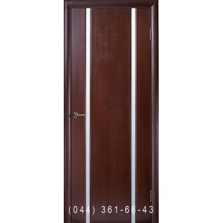 Двери Глазго 2 венге стекло матовое