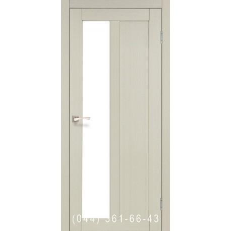 Двери КОРФАД TORINO TR-03 дуб беленый со стеклом (сатин матовый)