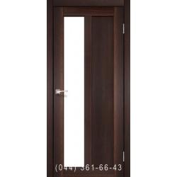 Двери КОРФАД TORINO TR-03 орех со стеклом (сатин матовый)