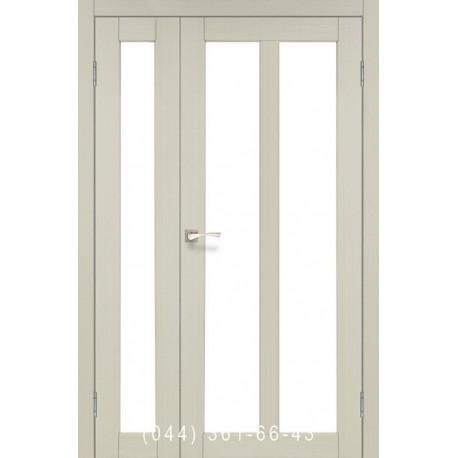 Двері КОРФАД TORINO TR-04 дуб білений зі склом (сатин матовий)