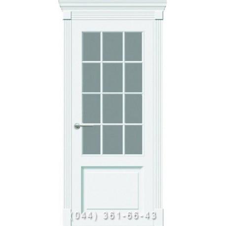 Двери Ницца-Бретань Прованс белые стекло решетка
