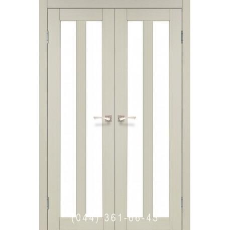 Двері КОРФАД TORINO TR-05 дуб білений зі склом (сатин матовий)