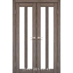 Двери КОРФАД TORINO TR-03 дуб грей со стеклом (сатин матовый)