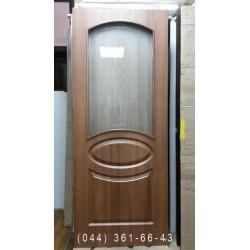 Двери Фортис R (Овал) 80 см золотая ольха