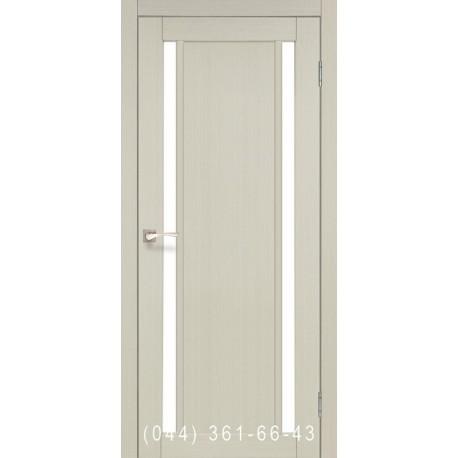 Двері КОРФАД ORISTANO OR-02 дуб білений зі склом (сатин матовий)