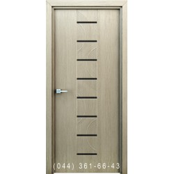 Інтер'єрні двері Сатурн колір капучино з декоративним молдингом