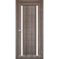 Двери КОРФАД ORISTANO OR-04 дуб грей со стеклом (сатин матовый)